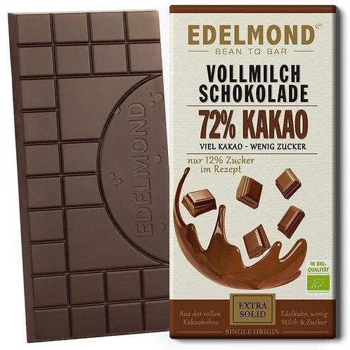 72% Milchschokolade, Bio