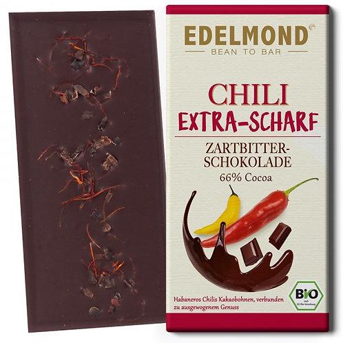 SCHARFE Chili Zartbitterschokolade, Bio