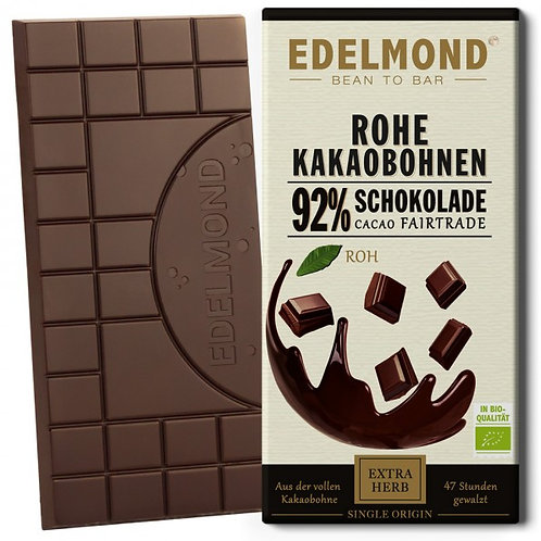 Rohe 92% Schokolade, Bio