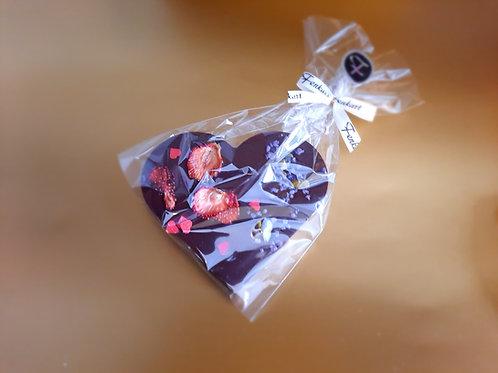 SchokoHERZ aus Dunkelschokolade
