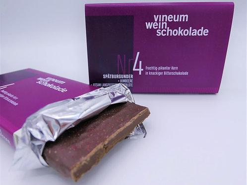 vineum Nr4 weinschokolade Spätburgunder Himbeere/Zimtblüte