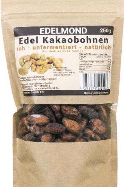 Kakaobohnen unfermentiert, 250 g
