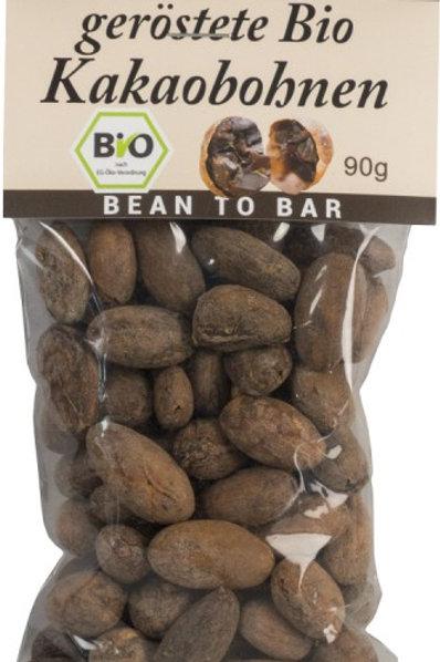 Kakaobohnen geröstet, mit Schale - 90g, Bio