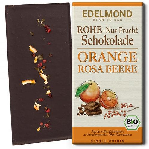 """Rohe 75% """"Nur Frucht"""" Orange/Rosa Beere. Bio"""