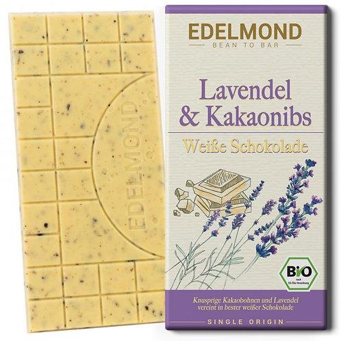 Lavendel & Nibs, weiße Schokolade, Bio