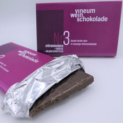 vineum Nr3 weinschokolade Spätburgunder Erdbeere/Pfeffer