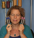 Sound healing tuning forks are among the resources used in the free weekly group to find relaxation and tranquility offered by Rachel Michaelsen, LCSW, D-CEP.