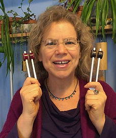 Sound healing with tuning forks, chimes, gongs, and tuning crystals offered by Rachel Michaelsen, LCSW, D-CEP
