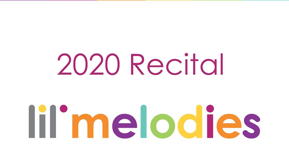 Lil' Melodies 2020 Recitals - Lil' Keys Wednesday Class