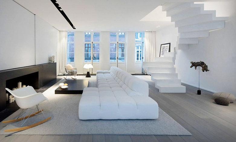 matte black marble&metal ON white-living