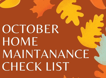 October Home Maintenance Tips