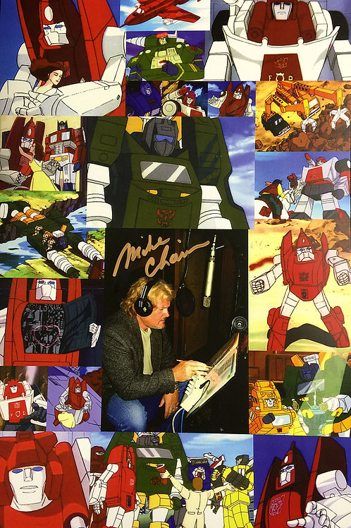 Michael Chain Autographed Transformer Poster