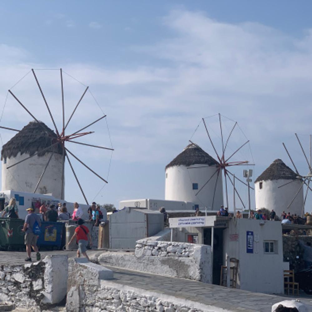 Windmills - Mykonos, Greece - tennistravelsite.com