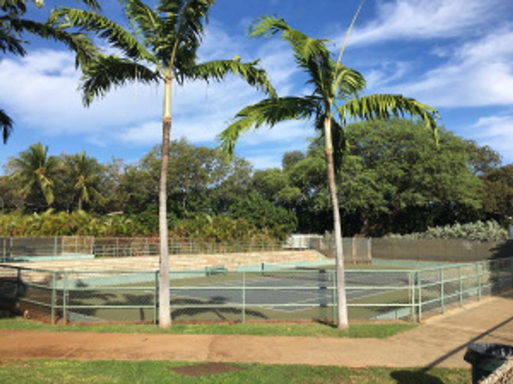 Diamond Head Tennis Court, Honolulu, Hawaii