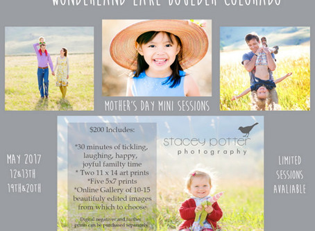 Boulder Photography Family Spring Mini Sessions are here!!!
