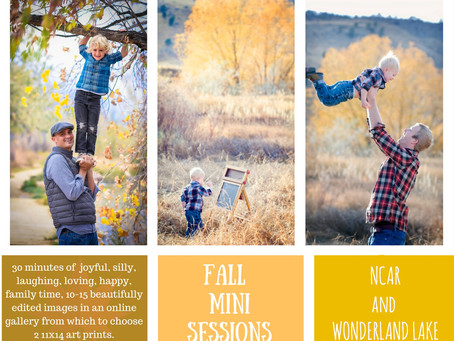 Fall (is the Best) Mini Photography Sessions! l boulder family photographer