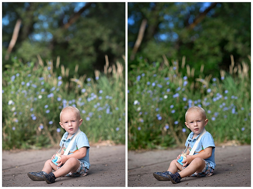 Toddler outdoor photoshoot