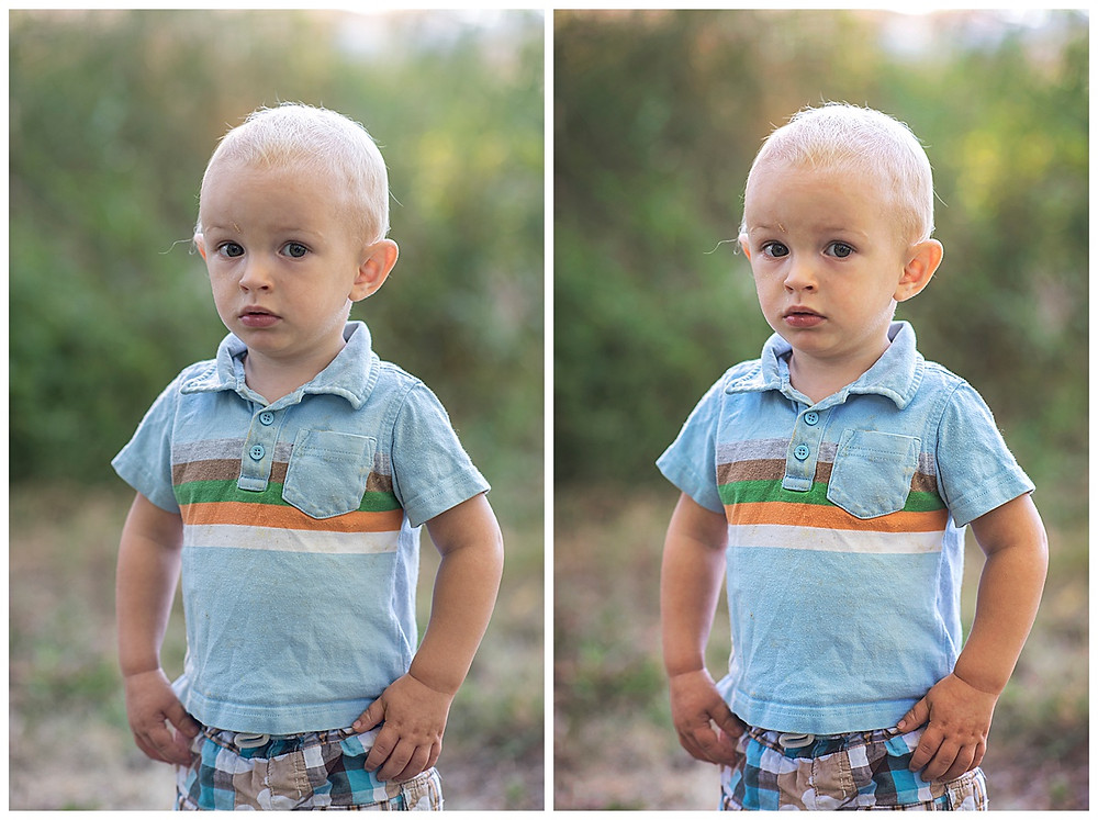 Toddler outdoor photoshoot closeup