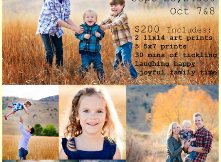 Fall Mini Sessions 2016 - Boulder Family Photography