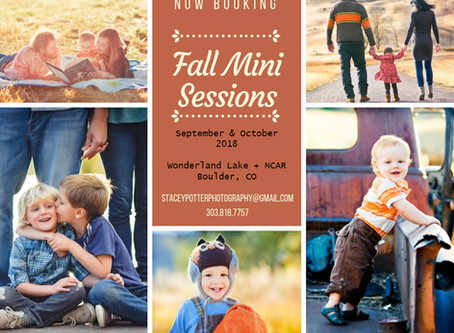 Fall Mini Sessions are Here!!! Boulder Family Photographer