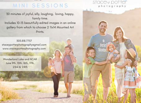 June Mini Family Photography Sessions - Boulder Photographer