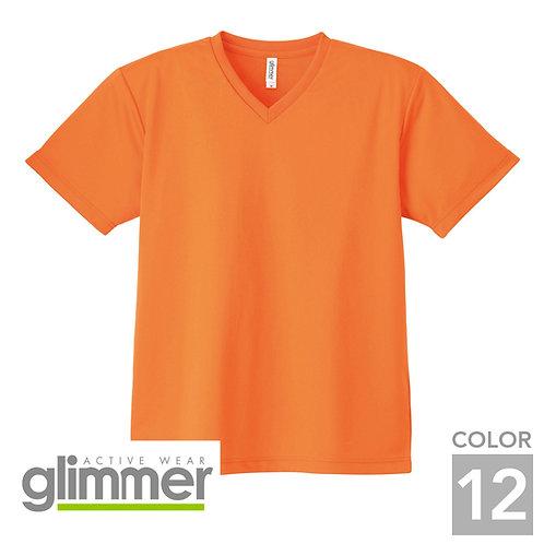 337-AVT|4.4オンスドライVネックTシャツ|12色
