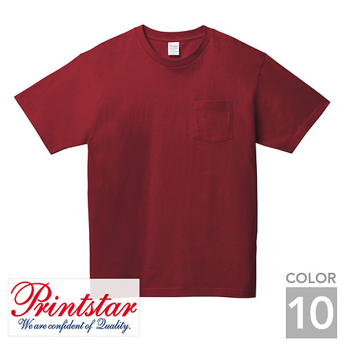 109-PCT|5.6オンスヘビーウェイトポケットTシャツ|10色