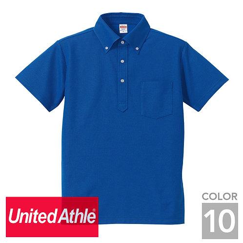 5051-01 5.3オンス ドライカノコ ユーティリティー ボタンダウンポロシャツ(ポケット付) 10色