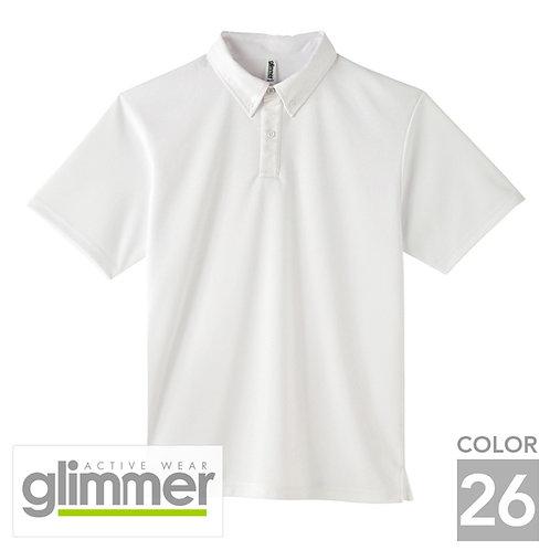 313-ABN|4.4オンスドライボタンダウンポロシャツ(ポケット無し)|26色