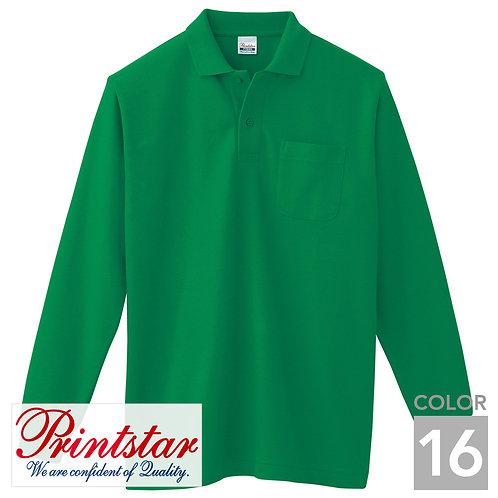 169-VLP|5.8オンスT/C長袖ポロシャツ(ポケット付)|16色
