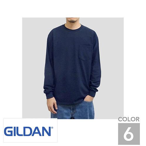 T2410|6.0オンスウルトラコットン長袖ポケットTシャツ|6色