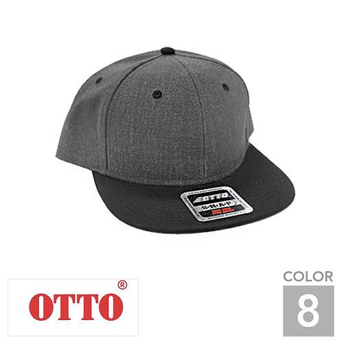 H1054|オットーキャップヘザーウールブレンドフラットバイザーキャップ|8色