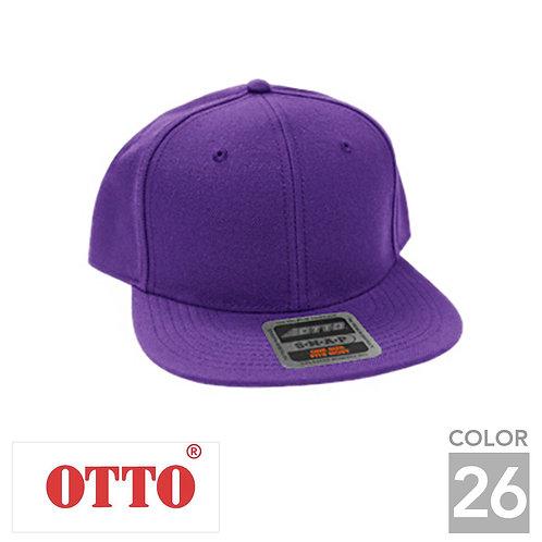 H0978|オットーキャップウールブレンドフラットバイザーキャップ|26色