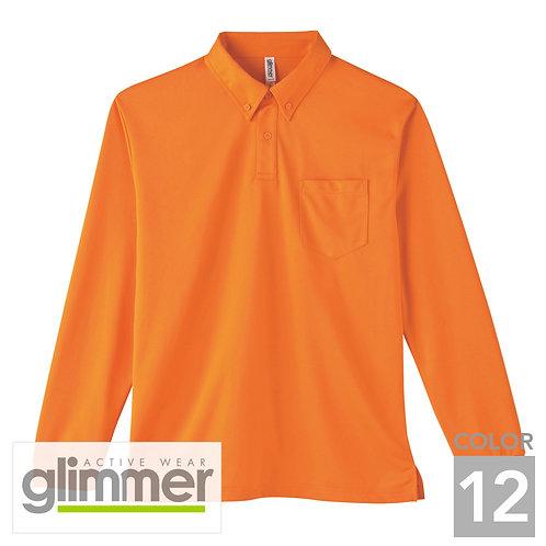 314-ABL|4.4オンスドライボタンダウン長袖ポロシャツ|12色