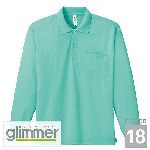 335-ALP 4.4オンスドライ長袖ポロシャツ(ポケット付) 18色