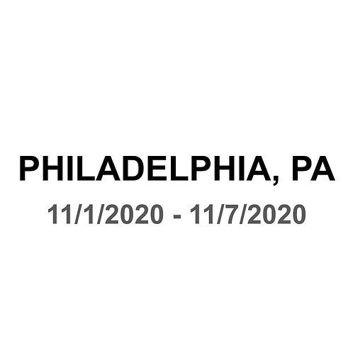 Philadelphia, PA 11/1 - 11/7