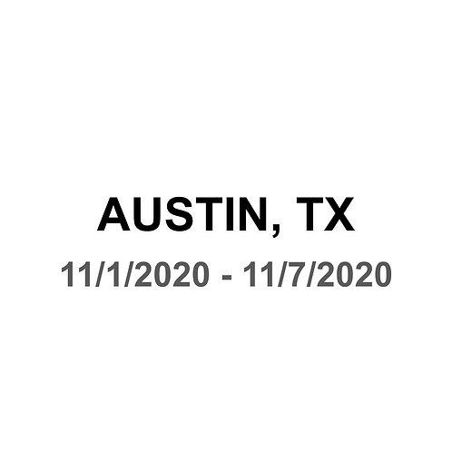 Austin, TX 11/1 - 11/7