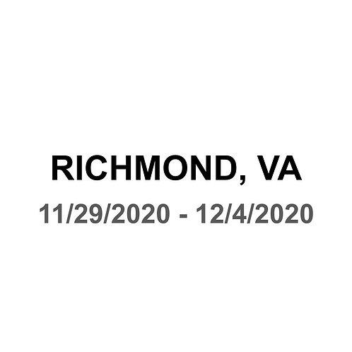 Richmond, VA - 11/29 - 12/4
