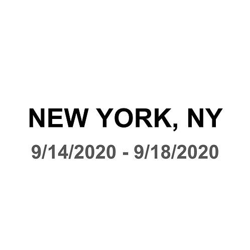 New York, NY 9/14 - 9/18