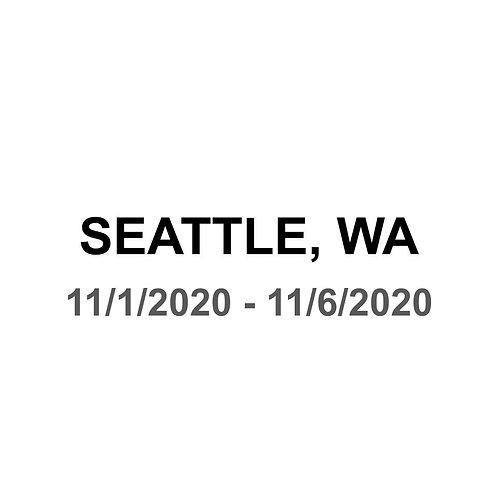 Seattle 11/1 - 11/6