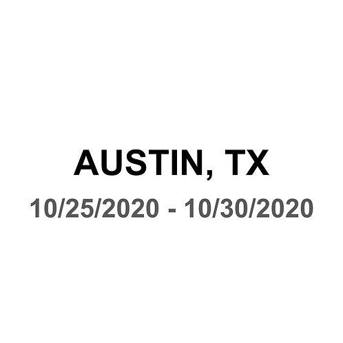 Austin, TX 10/25 - 10/30