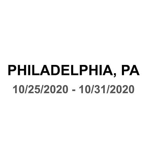Philadelphia, PA 10/25 - 10/31