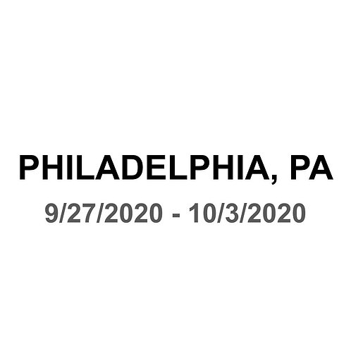 Philadelphia, PA 9/27 - 10/3