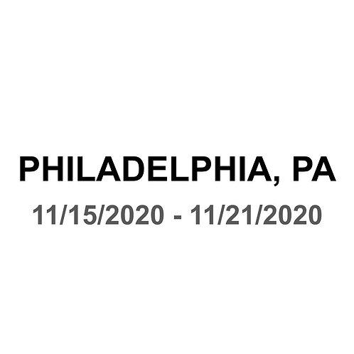 Philadelphia, PA 11/15 - 11/21