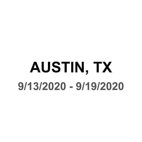 Austin, TX 9/13 - 9/19