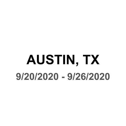 Austin, TX 9/20 - 9/26