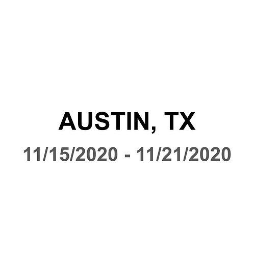Austin, TX 11/15 - 11/21