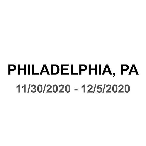 Philadelphia 11/30 - 12/5