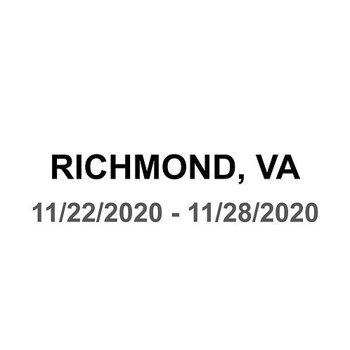 Richmond, VA - 11/22 - 11/28