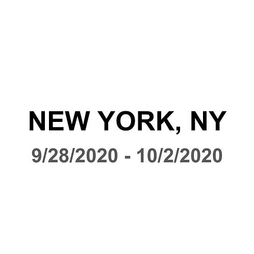 New York, NY 9/28 - 10/2